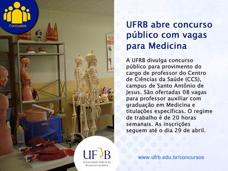 UFRB abre concurso público com 08 vagas para professor de Medicina