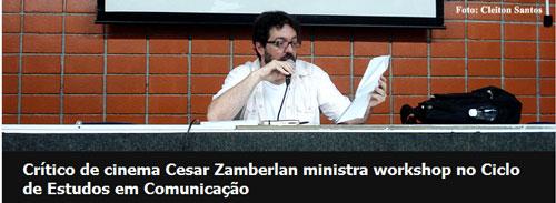 Crítico de cinema Cesar Zamberlan