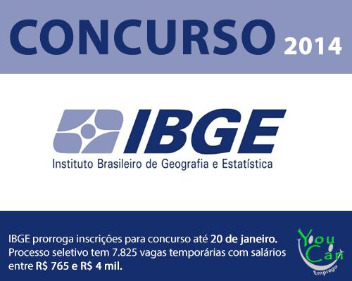 IBGE prorroga as inscrições para preencher 7.825 vagas