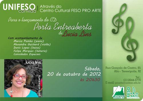 Inauguração do CD Porta Entreaberta Lucia Lins