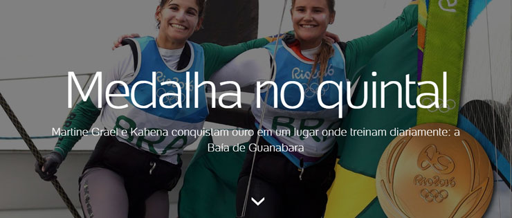 Martine Grael e Kahena conquistam ouro em um lugar onde treinam diariamente: a Baía de Guanabara