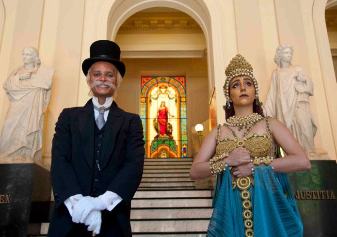 Ruy Barbosa e Deusa Têmis guiam as últimas visitas do ano ao Antigo Palácio da Justiça