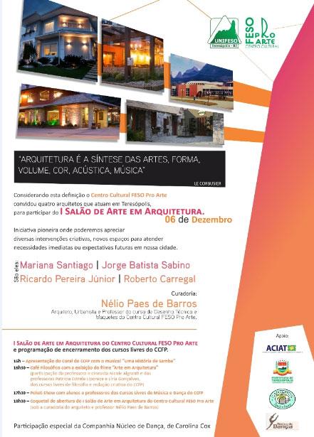 Salão de Arte em Arquitetura neste sábado