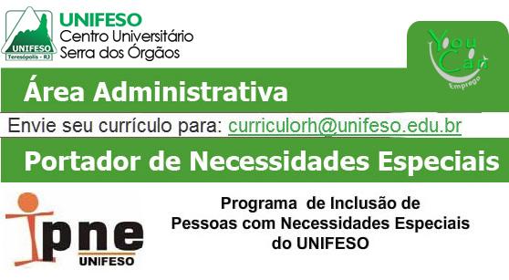 UNIFESO contrata professores para o programa necessidades especias